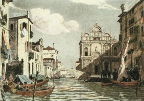 Grand Canal Venice (Restrike Etching) by Anonymous