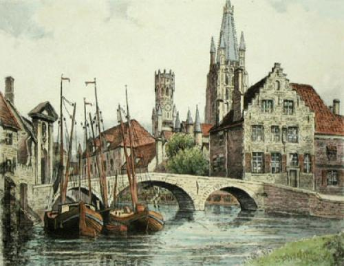 Bruges (Restrike Etching) by Anonymous