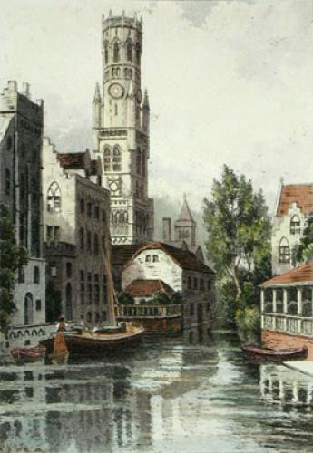 Bruges Belfrey (Restrike Etching) by Anonymous