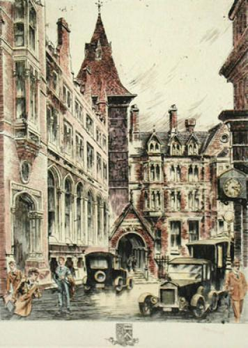 Manchester (Restrike Etching) by Anonymous