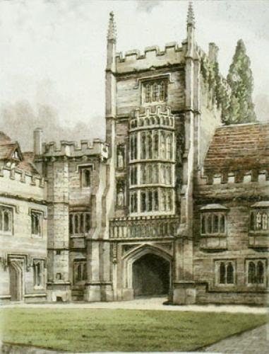Magdalen College (Restrike Etching) by Anonymous