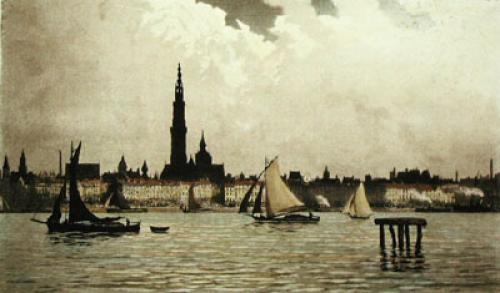 Antwerp, Belgium (Restrike Etching) by Anonymous