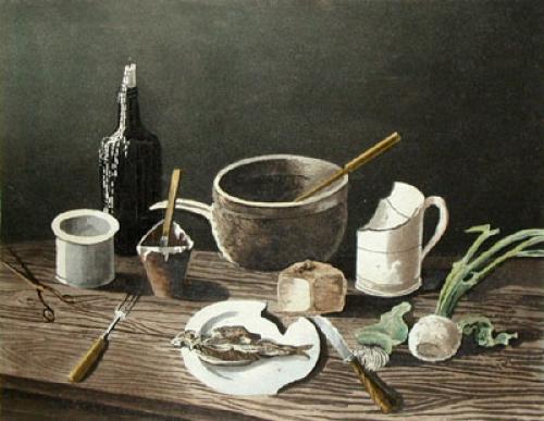Penury (Restrike Etching) by P. Pasquin