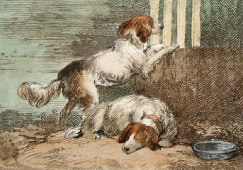 Waiting for Dinner! (Restrike Etching) by Anonymous