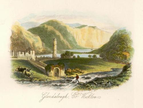 Glendalough, Co. Wicklow (Restrike Etching) by Anonymous