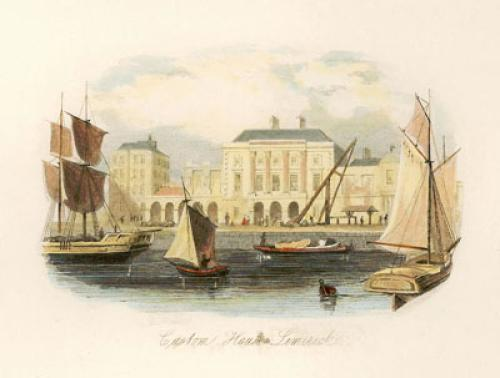 Customs House, Limerick (Restrike Etching) by Anonymous