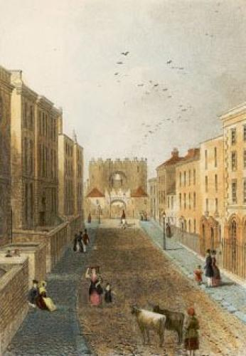 St Lawrence Gate, Drogheda (Restrike Etching) by Anonymous