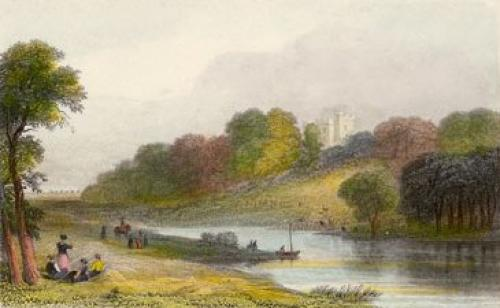 Ballygarth Castle on the Nanny (Restrike Etching) by Anonymous