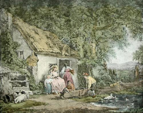 The Happy Cottagers (Restrike Etching) by George Morland