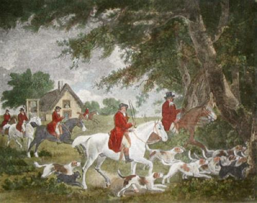Going into cover (Restrike Etching) by George Morland