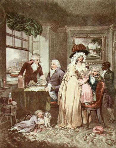 Fruits of Early Industry (Restrike Etching) by George Morland