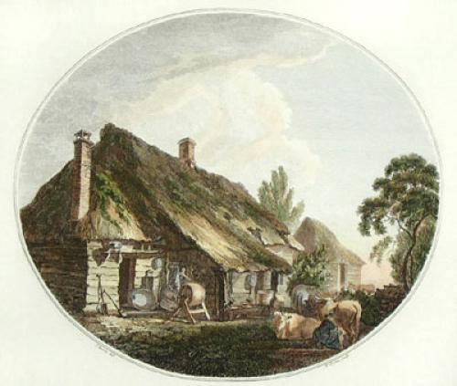 The Dairy (Restrike Etching) by Thomas Hearne
