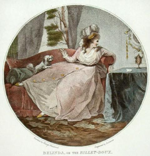 Belinda, or the Billet-Doux (Restrike Etching) by George Morland