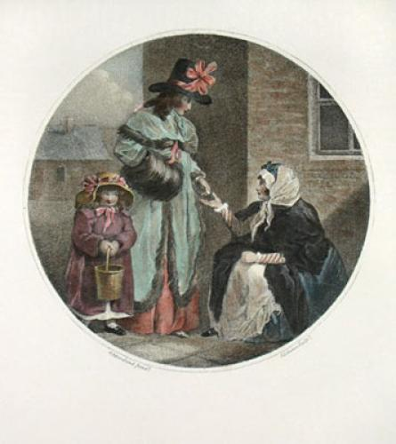 Believing a beggar (Restrike Etching) by Robert Cruikshank