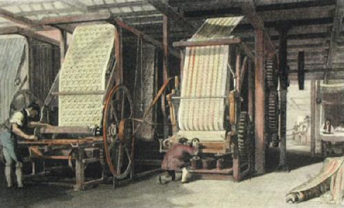 Calico Printing (Restrike Etching) by Anonymous