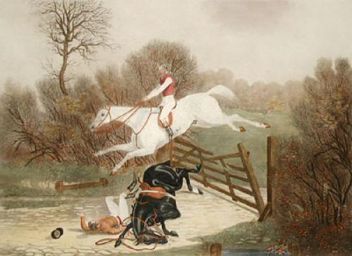 Mr Seffert & Grimaldi (Restrike Etching) by James Pollard