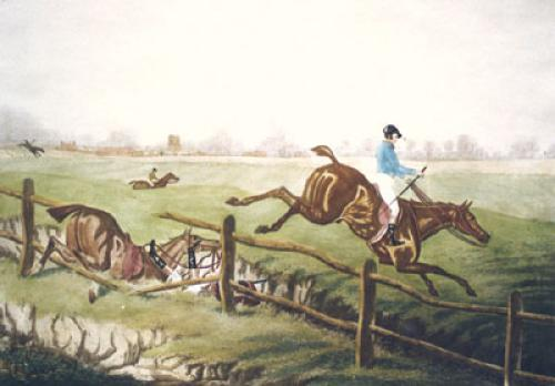 Mr Cooper & The Pony (Restrike Etching) by James Pollard
