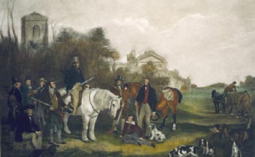 The Shooting Party (Restrike Etching) by Sir Francis Grant