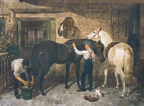 Park Hacks (Restrike Etching) by John Frederick Herring