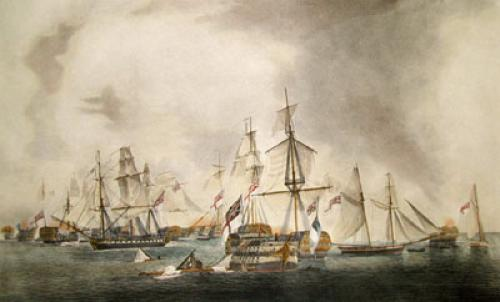 Battle of Trafalgar in Rear (Restrike Etching) by Robert Dodd