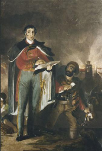 Wellington - The Despatch (Restrike Etching) by John Burnett