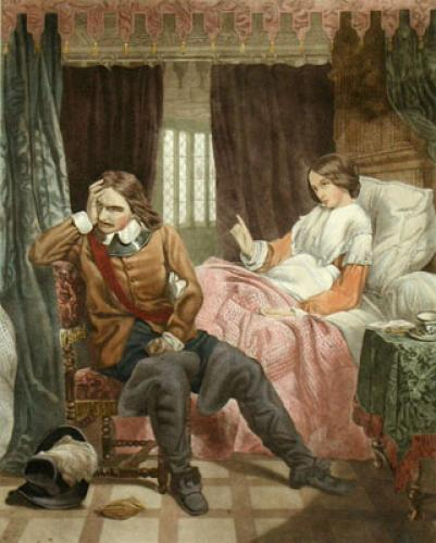 Cromwell's Last Interview (Restrike Etching) by Charles Lucey
