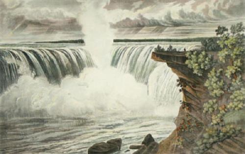 Falls of Niagara, Pl. I (Restrike Etching) by L. Col Cockburn
