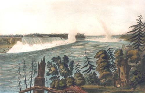 Falls of Niagara, Pl. II (Restrike Etching) by L. Col Cockburn
