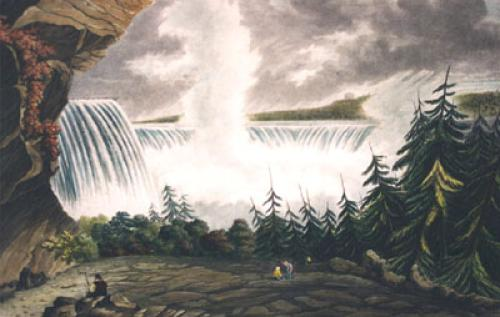 Falls of Niagara, Pl. III (Restrike Etching) by L. Col Cockburn