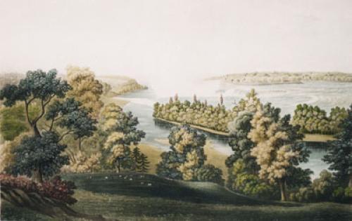 Falls of Niagara, Pl. IV (Restrike Etching) by L. Col Cockburn