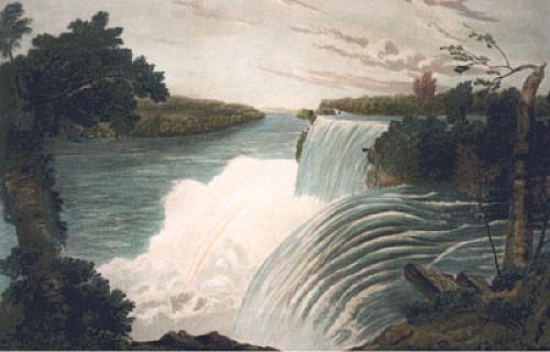 Falls of Niagara, Pl. V (Restrike Etching) by L. Col Cockburn