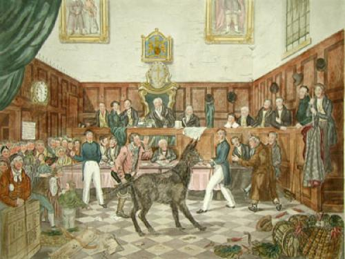 Trial of Bill Burn (Restrike Etching) by P. Mathews