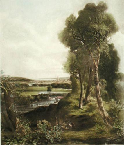 The Vale of Dedham (Restrike Etching) by John Constable