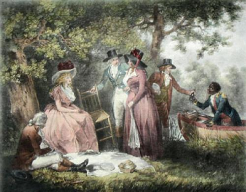 The Anglers Repast (Restrike Etching) by George Morland