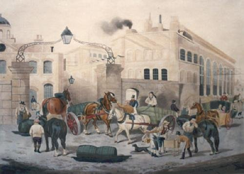 Barclays Brewhouse, Southwark (Restrike Etching) by William Joseph Shayer