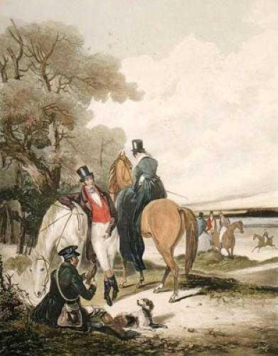 Rendez-vous (Restrike Etching) by Francis Calcraft Turner