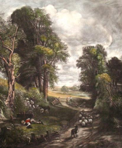 Cornfield (Restrike Etching) by John Constable