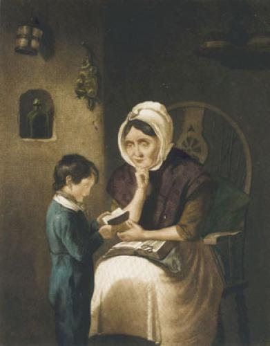 Grandmamma's Lesson (Restrike Etching) by Alex C. Chisholm