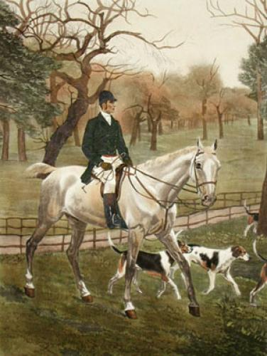 Gone to the Meet (Restrike Etching) by Francisca Stuart Sindici
