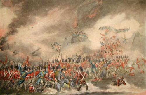 Storming of St Sebastian (Restrike Etching) by William Heath