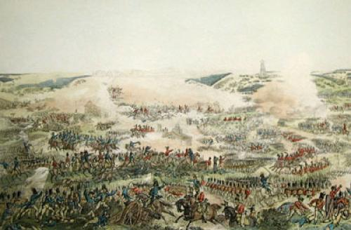 Battle of Waterloo (Restrike Etching) by William Heath