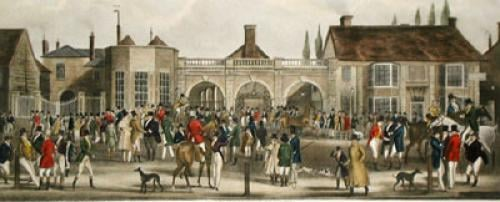 Subscription Rooms, Newmarket (Restrike Etching) by Robert Pollard & Sons