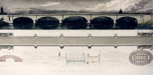 The New London Bridge (Restrike Etching) by Thomas Walker