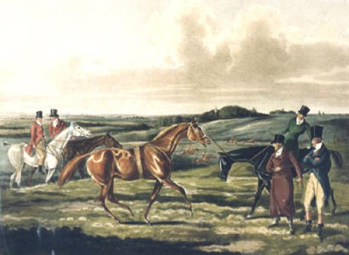 In Training (Restrike Etching) by Henry Alken