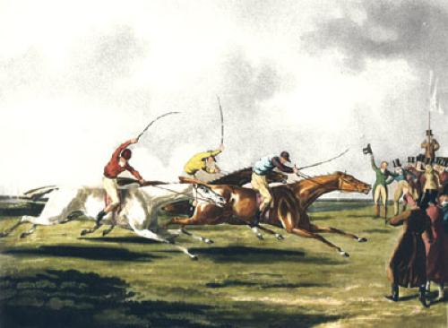 The Racer (Restrike Etching) by Henry Alken