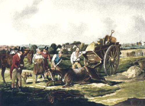 The Death (Restrike Etching) by Henry Alken