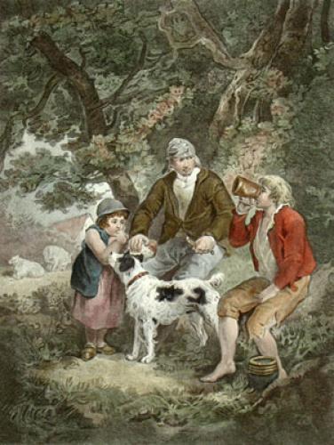 Peasant's Repast (Restrike Etching) by George Morland