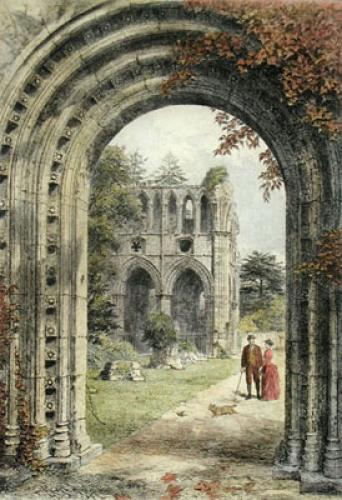 Sir Walter Scott's Tomb (Restrike Etching) by Charles Oliver Murray