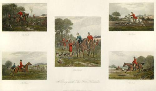 A Day with the hounds (Restrike Etching) by Sir Thomas Lawrence