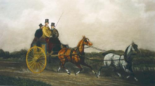 Going to the meet (Restrike Etching) by Charles Cooper-Henderson